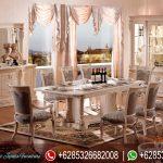 Set Meja Kursi Makan Mewah Model Eropa Klasik Ukiran Mebel Jepara Terbaru Florenta MM-270