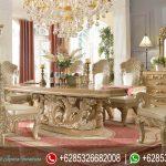 Set Meja Makan Ukiran Mewah Model Eropa Klasik Terbaru Royale Kingdom MM-292