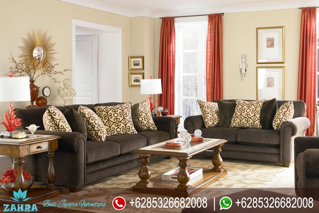 Set Sofa Ruang Tamu Jati Minimalis Modern Mewah Terbaru Scandinavian Srt 176 Zahra Furniture