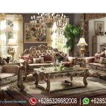 Set Sofa Ruang Tamu Mewah Ukiran Mebel Jepara Klasik Terbaru Vendome SRT-198