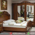 Set Tempat Tidur Mewah Jati Klasik Modern Ukiran Murah Terbaru Allegro KT-204