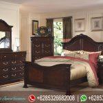 Set Tempat Tidur Minimalis Modern Jati Mebel Jepara Mewah Terbaru Emily KT-222