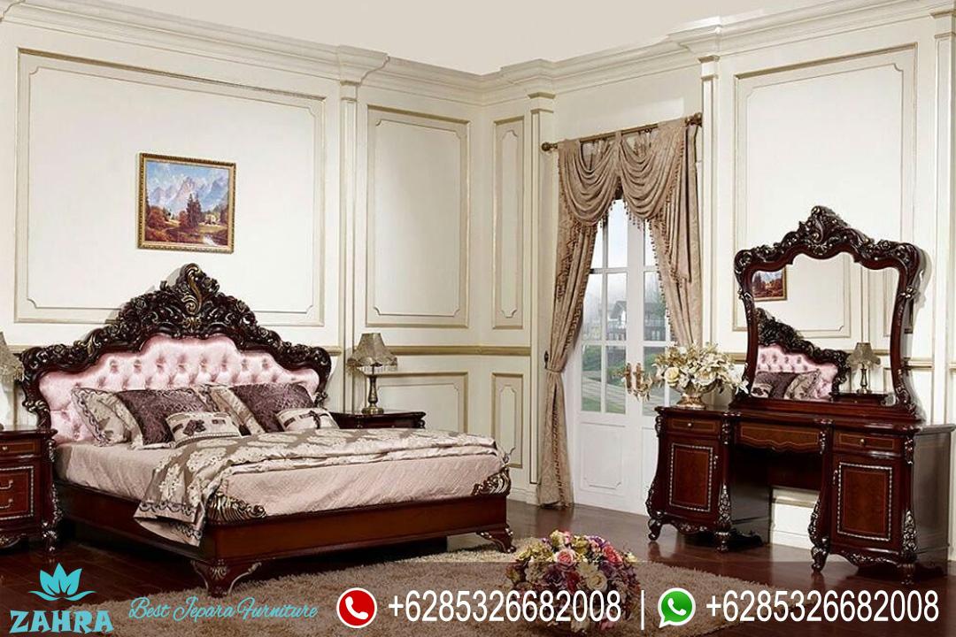 Tempat Tidur Jati Set Mewah Klasik